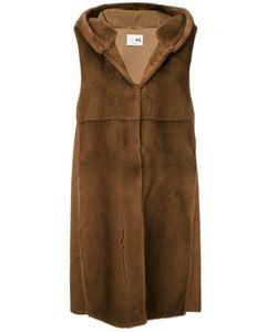 Manzoni 24 | Sleeveless Hooded Fur Jacket Mink