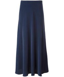 Cédric Charlier | Side Split Midi Skirt 40 Silk