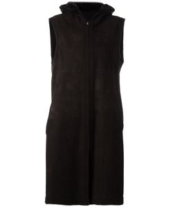 Liska   Sleeveless Shearling Coat Size Medium