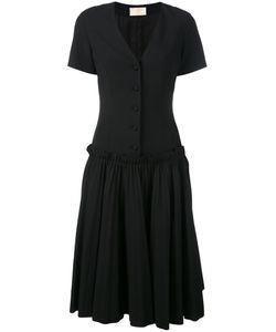 Sara Battaglia | Pleated Midi Dress