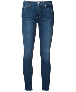 7 For All Mankind | Frayed Ankle Skinny Jeans Size 24