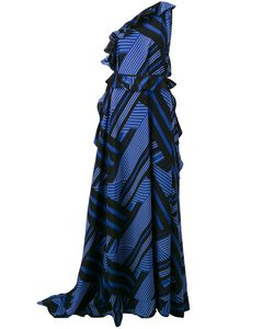 MSGM   One Shoulder Printed Gown Size