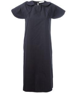 Société Anonyme | Pinstripe Circle Shoulders Dress 2