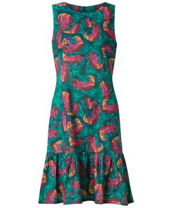 Isolda   Abstract Print Sleeveless Dress