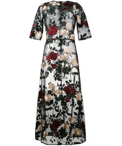 Ganni   Simmons Embroidered Tulle Dress