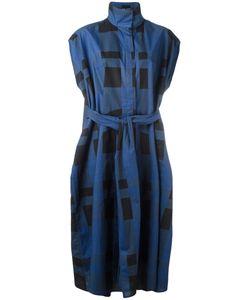 Sofie D'hoore | Belted Gingham Short Sleeve Shirt Dress