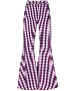 House Of Holland | Flared Gingham Trousers Women