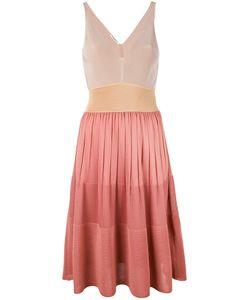 Agnona   Sleeveless Contrast Knit Dress