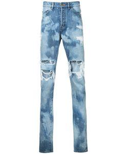 Hl Heddie Lovu   Distressed Bleach Jeans Men