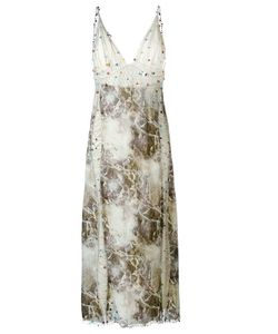 Christopher Kane | Marble Print Beaded Dress Size 40
