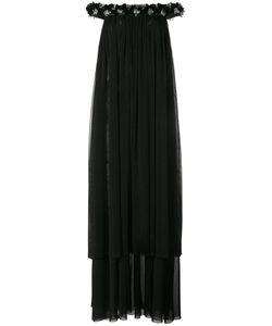 Huishan Zhang   Bead Embellished Off-Shoulder Gown