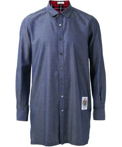 Education From Youngmachines | Long Relaxed Fit Cuff Detail Button Down Shirt