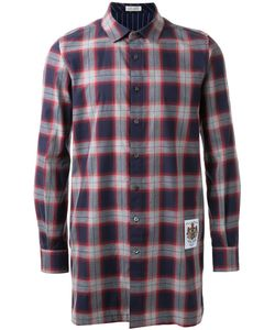 Education From Youngmachines | Contrast Plaid Long Relaxed Fit Button Down Shirt