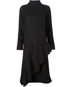 Audra | Ruffled Hem Asymmetric Coat