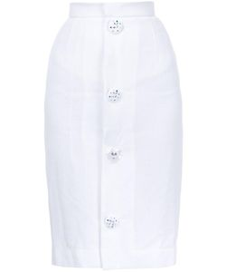 Jenny Fax   Buttoned Skirt Medium Acrylic/Cotton/Rayon/Nylon