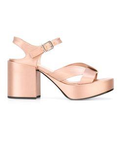 Jil Sander | Sandals Size 37 Goat Skin/Bos Taurus/Silk