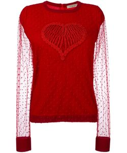 Piccione.Piccione | Piccione. Piccione Heart Jumper 44 Wool/Viscose/Polyamide/Polyester