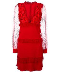 Piccione.Piccione | Piccione. Piccione Sheer Detail Dress 40 Acetate/Silk/Polyester/Polyethylene