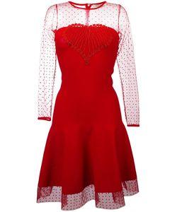 Piccione.Piccione | Piccione. Piccione Sheer Panel Flared Dress