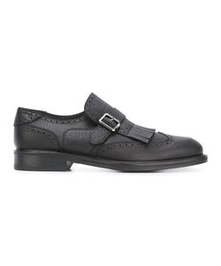Salvatore Ferragamo | Fringe Trim Brogue Monk Shoes