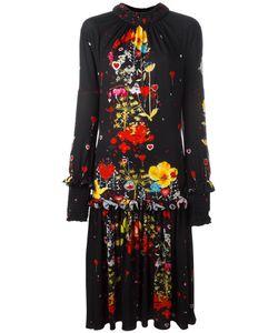 Piccione.Piccione | Piccione. Piccione Print Ruffled Dress 40 Polyester/Spandex/Elastane