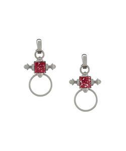 Eshvi | Double Ring Hematite Earrings