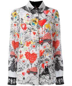 Piccione.Piccione | Piccione. Piccione Multiple Prints Shirt 40 Silk
