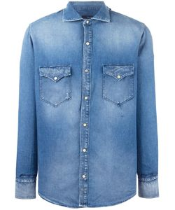 +People | Patch Pocket Denim Shirt 39 Cotton