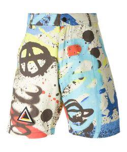 KTZ   Graffiti Print Shorts Large Cotton
