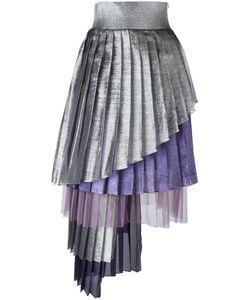 Daizy Shely | Asymmetric Pleated Skirt 42 Acetate/Polyester/Polyamide