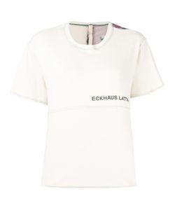 Eckhaus Latta | Back Print T-Shirt Medium Cotton