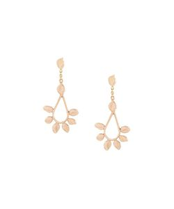 Natasha Collis | Diamond Leaf Hoop Stud Earrings