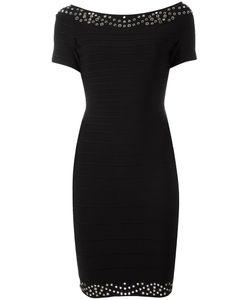 Hervé Léger   Short Sleeved Fitted Dress Small