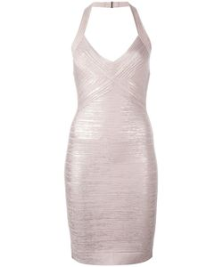 Hervé Léger | Halterneck Fitted Dress Small