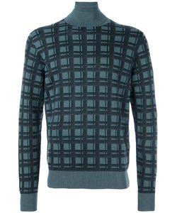 Brioni   Checked Pattern Pullover 54 Silk/Cashmere