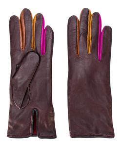 Paul Smith | Contrast Finger Panel Gloves Silk/Lamb