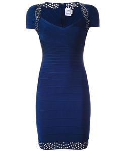 Hervé Léger | Studded Fitted Dress Medium