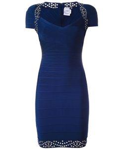 Hervé Léger   Studded Fitted Dress Medium