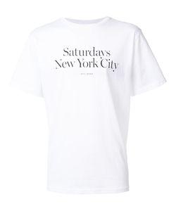 Saturdays Surf Nyc | Logo Print T-Shirt Medium Cotton