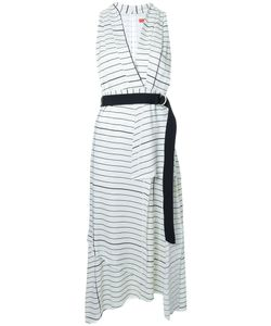 Manning Cartell | Striped V-Neck Dress 8 Viscose