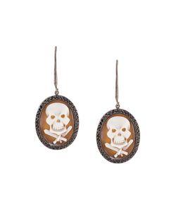 Amedeo | Embossed Skull Earrings