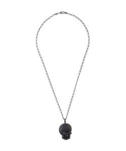 Amedeo | Embossed Skull Necklace