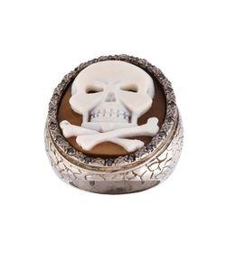 Amedeo | Embossed Skull Ring 8 1/4