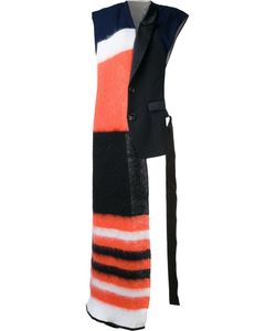 Undercover   Oversized Striped Scarf Cotton/Cupro/Wool