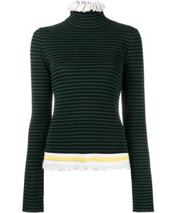 MSGM | Ruffled Turtleneck Jumper Small Cotton/Viscose