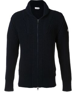 Moncler | Ribbed Zip-Up Cardigan Xl Wool/Cashmere