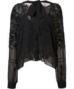 Loyd/Ford | Embellished Sleeves Sheer Blouse 2 Silk