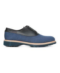 Salvatore Ferragamo | Leather Trim Oxford Shoes 6