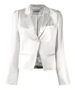 Ann Demeulemeester Blanche | Glossy Effect Cropped Jacket 36