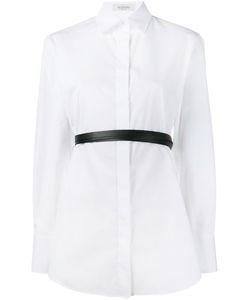 Valentino   Belted Poplin Shirt 38 Cotton